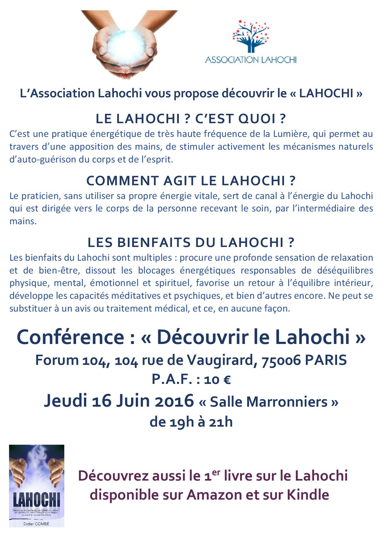 Affiche Association LAHOCHI - Forum 104 - 16062016